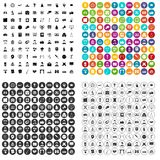 100 conference icons set vector variant. 100 conference icons set vector in 4 variant for any web design isolated on white Stock Photography
