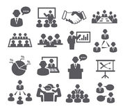 Conference icons Stock Images
