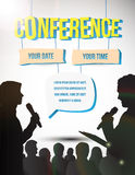 Conference illustration Royalty Free Stock Photography