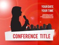 Conference illustration Stock Image
