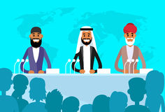 Conference International Leaders Arabic Indian Jew Royalty Free Stock Images