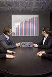Conference Meeting with Graph Royalty Free Stock Photography