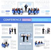 Conference Meeting People Infographics Template royalty free illustration