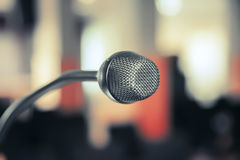 Conference microphone Stock Photos