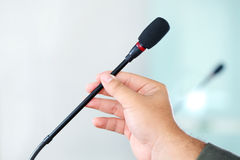 Conference microphone Royalty Free Stock Images