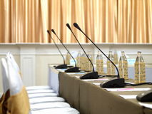 Conference microphones system Stock Image