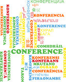 Conference multilanguage wordcloud background concept Royalty Free Stock Images