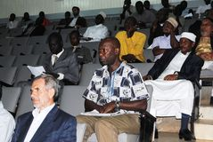 Conference participation. Participants during an Islamic conference in Nairobi Kenya Royalty Free Stock Images