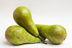 Conference pear. Conference three pears, forming a group Stock Photo