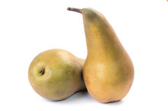 Conference pears. On white with shadow Stock Image