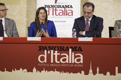 Conference press panorama of itali lecce Royalty Free Stock Photos