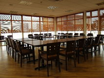 Conference room. Taken on an angled view of conference tables Royalty Free Stock Photos