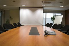 Conference room. People by the window in conference room Royalty Free Stock Photo