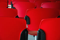 Conference room. Detail of red seats Royalty Free Stock Photos