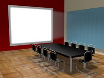 Conference room. With projector screen Stock Images
