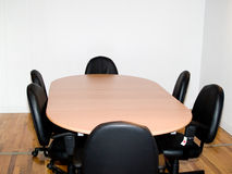 Conference Room. Confrence room with table and chairs Royalty Free Stock Image
