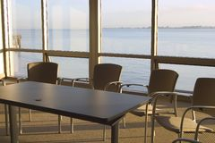 Conference Room #2. A conference room with a view stock image