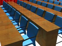 Conference room. A 3d illustration of an empty conference room Stock Images
