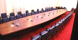 Conference room. With red carpet Royalty Free Stock Photography