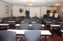Conference room. Main conference room used for presentations and schooling Stock Photo