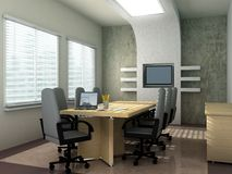 Conference room. 3D rendering of an empty meeting room Stock Photography