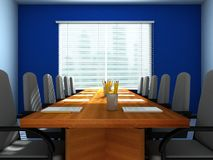 Conference room. 3D rendering of an empty meeting room Royalty Free Stock Images