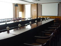 Conference Room. Teacups on the table in conference Room in china Royalty Free Stock Photography