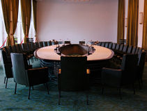 Conference room. A well equipped conference room royalty free stock photography