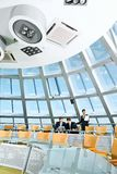 Conference room. Customary conference room: glassy table, chair, large window Royalty Free Stock Image