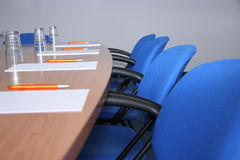 Conference room. Ready for a meeting royalty free stock photography