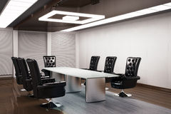 Conference room 3d render Royalty Free Stock Photos