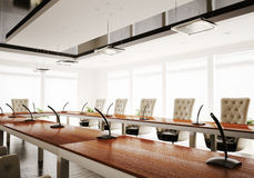 Conference room 3d render Stock Photography