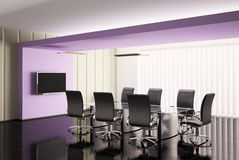 Conference room 3d render Royalty Free Stock Photography