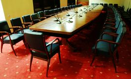 Conference room. Photo of empty conference room Stock Photo