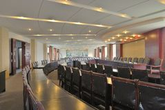 Conference room. The picture is a conference room  layout and decoration Stock Photo