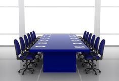 Conference room. With blue color furniture Stock Images