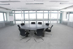 Conference room with armchairs royalty free stock image