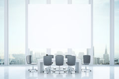 Conference room with billboard Stock Image