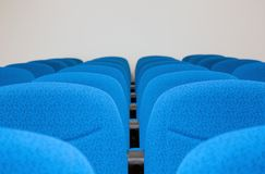 Conference room chairs. Shot of conference room chairs, all perfectly identical, modern and clean Stock Images