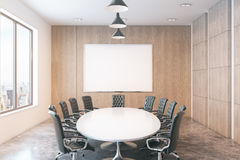 Conference room with city view Stock Images