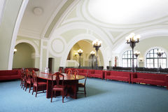 Conference room  in Commerce and Industrial chamber of Russia Royalty Free Stock Photo