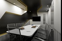 Conference Room 3D Stock Image