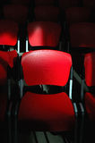 Conference room - detail of seats (2/6). Conference room - detail of red seats Royalty Free Stock Images