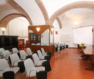 Conference room. Elegant conference room in a hotel in Rome Stock Photography