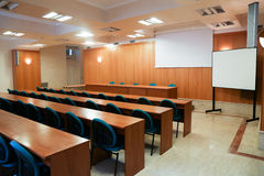 Conference room. Elegant conference room in a hotel in Rome royalty free stock photos