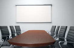 Conference room with empty chairs Royalty Free Stock Photo