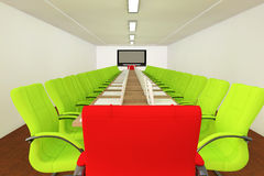 Conference room with empty chairs Stock Image