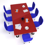 Conference room filled with desk and chairs Royalty Free Stock Photography
