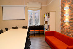 Conference room fragment at institute of a development of educat Stock Images