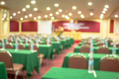 Conference room, hall, lights, pool. lighting, background blur, meeting. Stock Photos